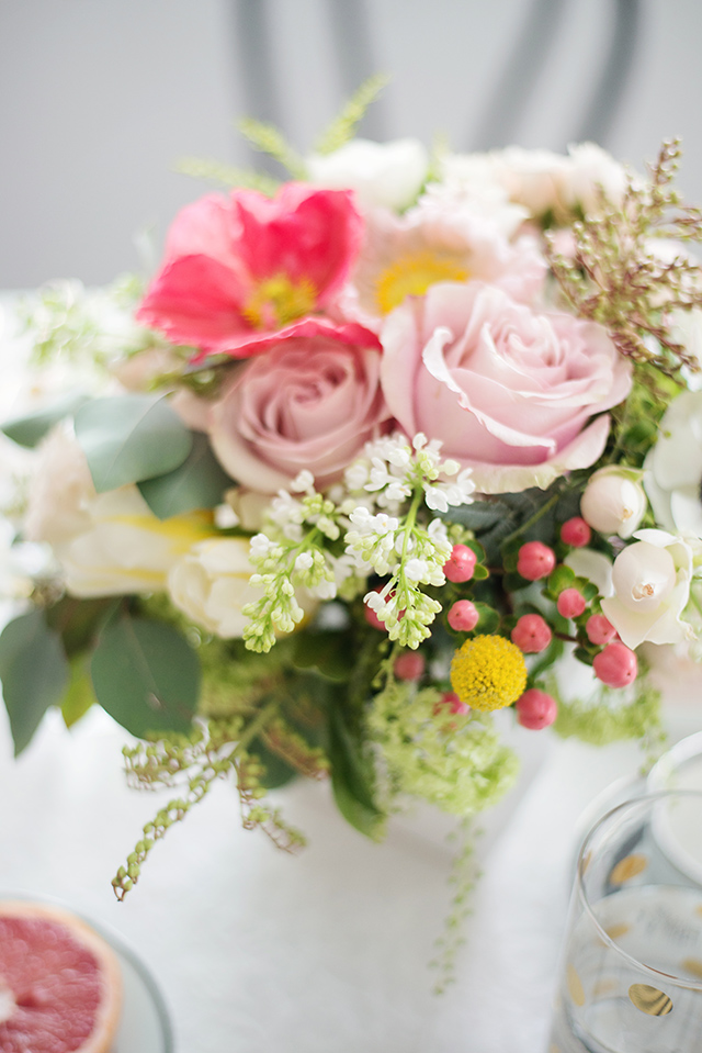 gorgeous bridal shower bouquet from Seed Floral in Los Angeles- M Loves M