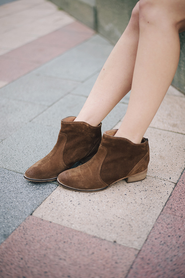 the most versatile brown booties M Loves M