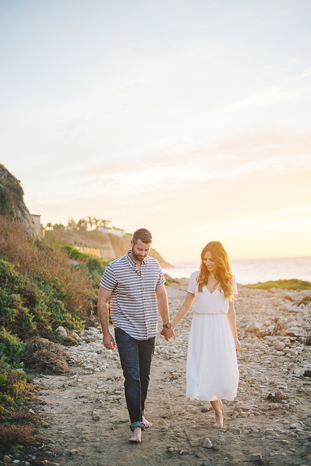 soft romantic couple shoot at the beach