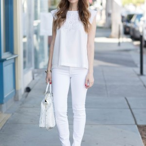 styling a white on white outfit for spring M Loves M