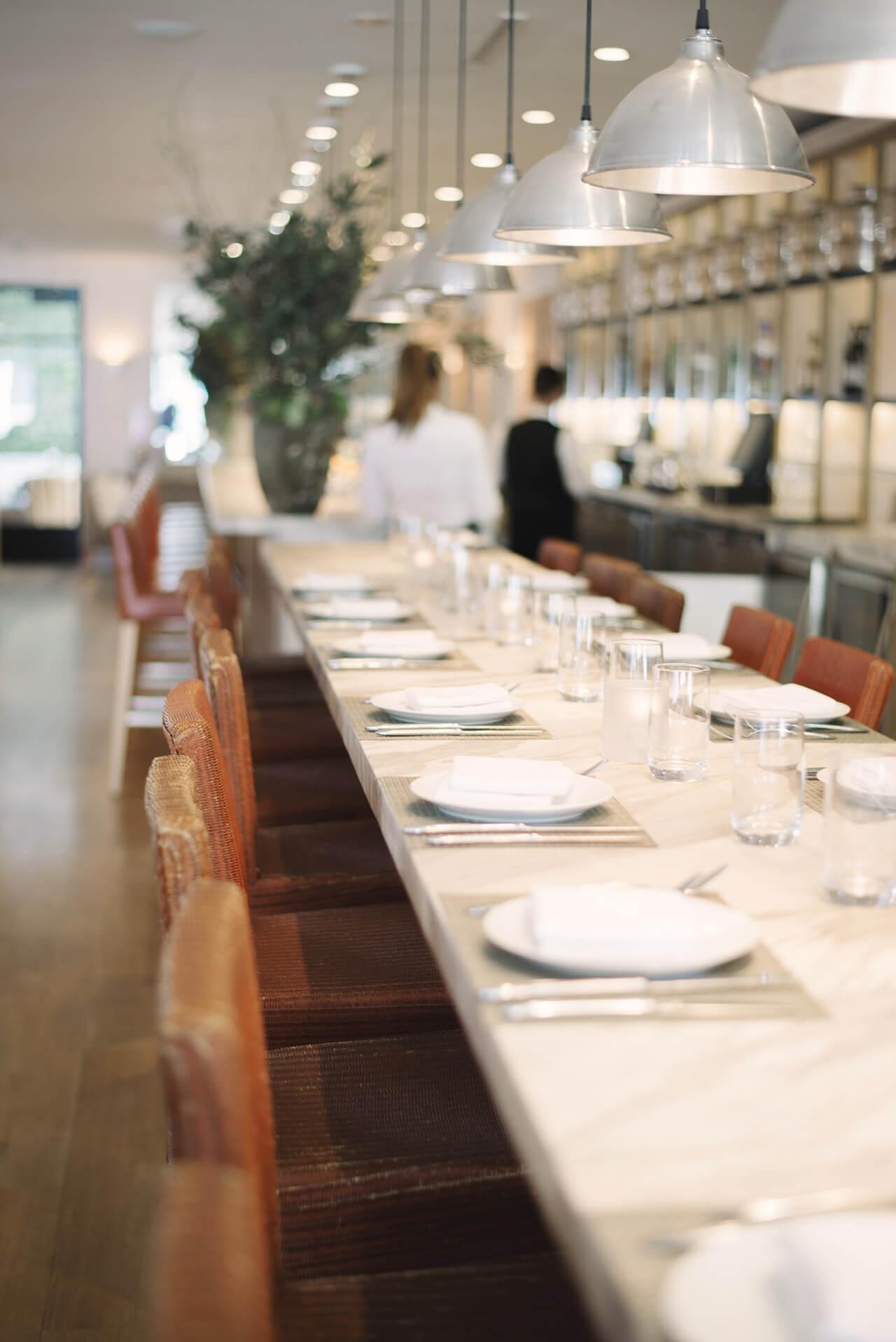 bar area at fig & olive melrose place