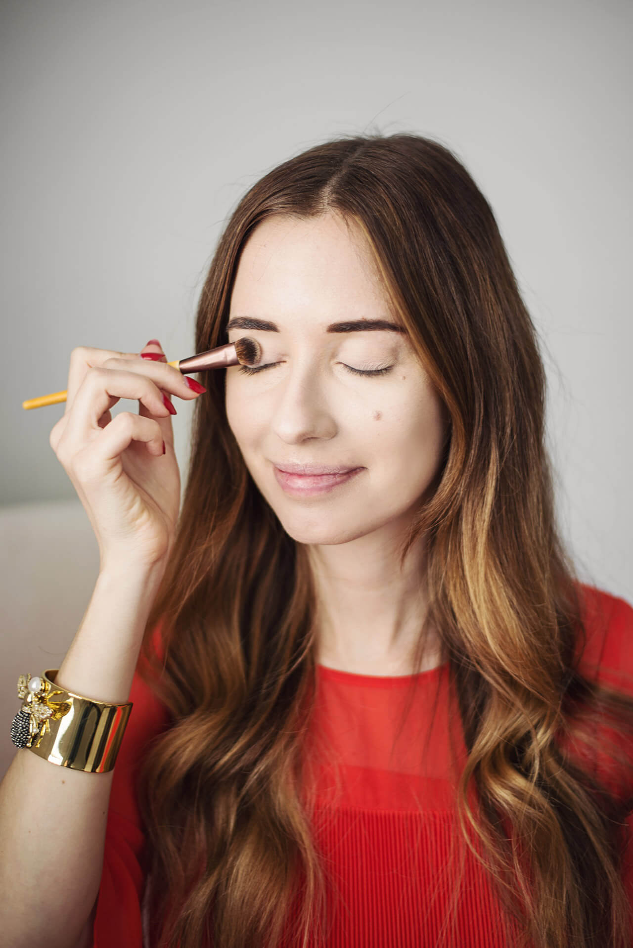 natural beauty tutorial with burt's bees and ecotool on M Loves M