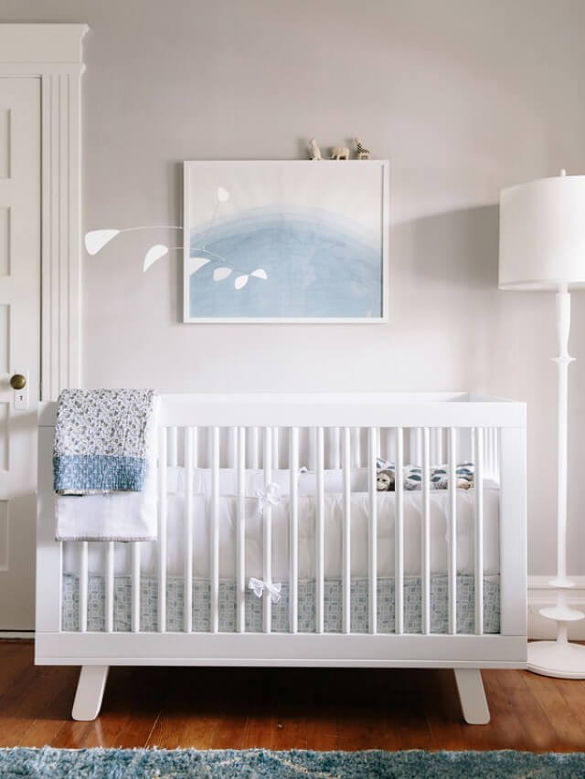 blue and white nursery