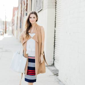 a layered spring outfit