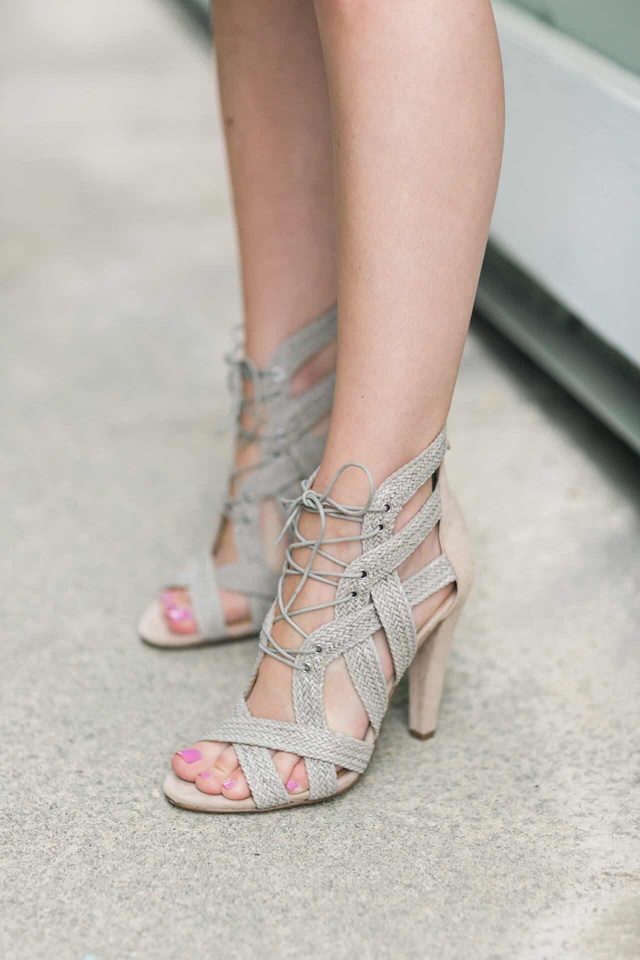 woven lace up sandal heels from banana republic