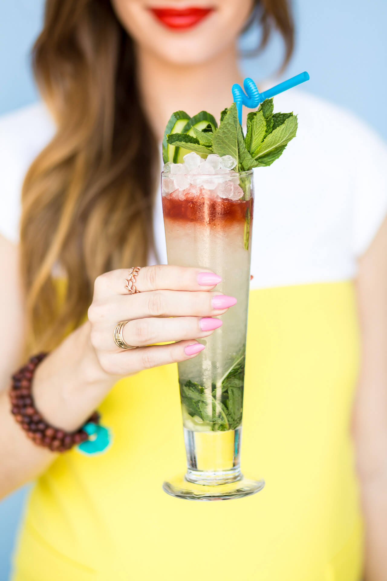 learn how to make this delicious and colorful mocktail