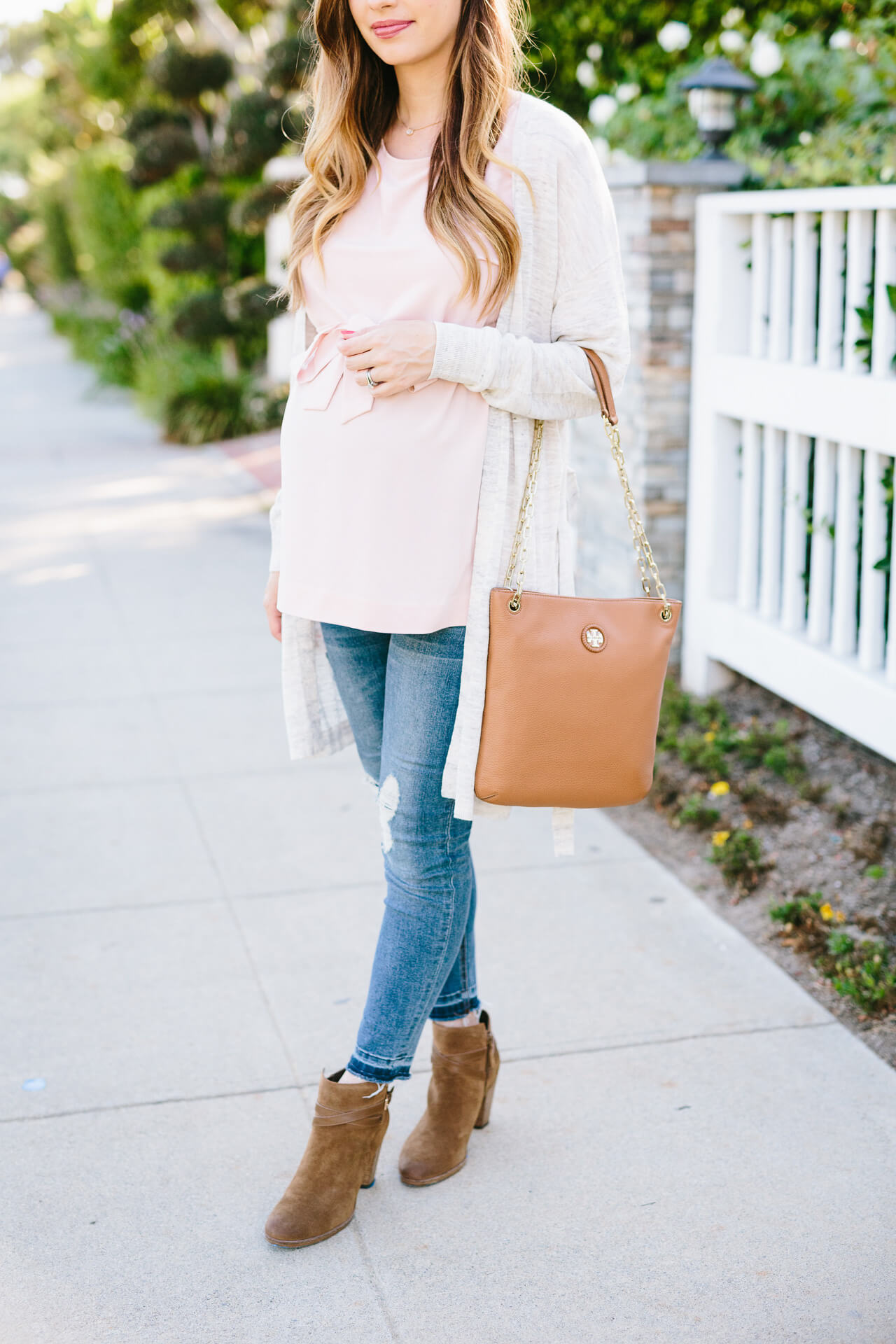 feminine summer to fall transitional outfit