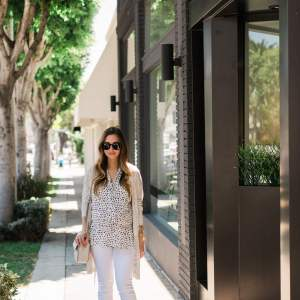 styling a polka dot top for summer