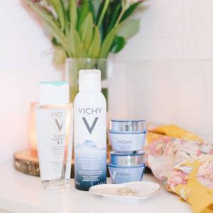my new favorite skincare routine with products from Vichy