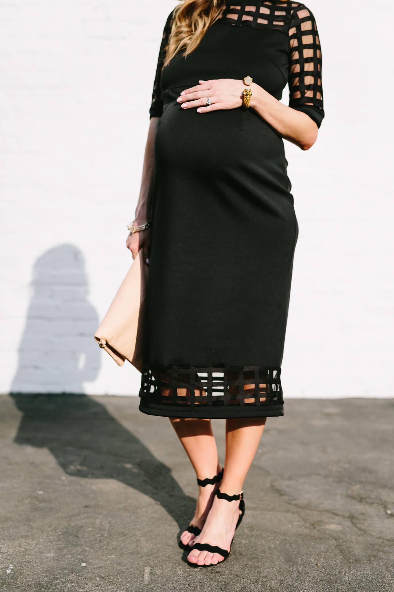 dress the bump in a little black dress
