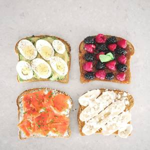 breakfast toast four ways