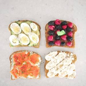 breakfast toast four ways