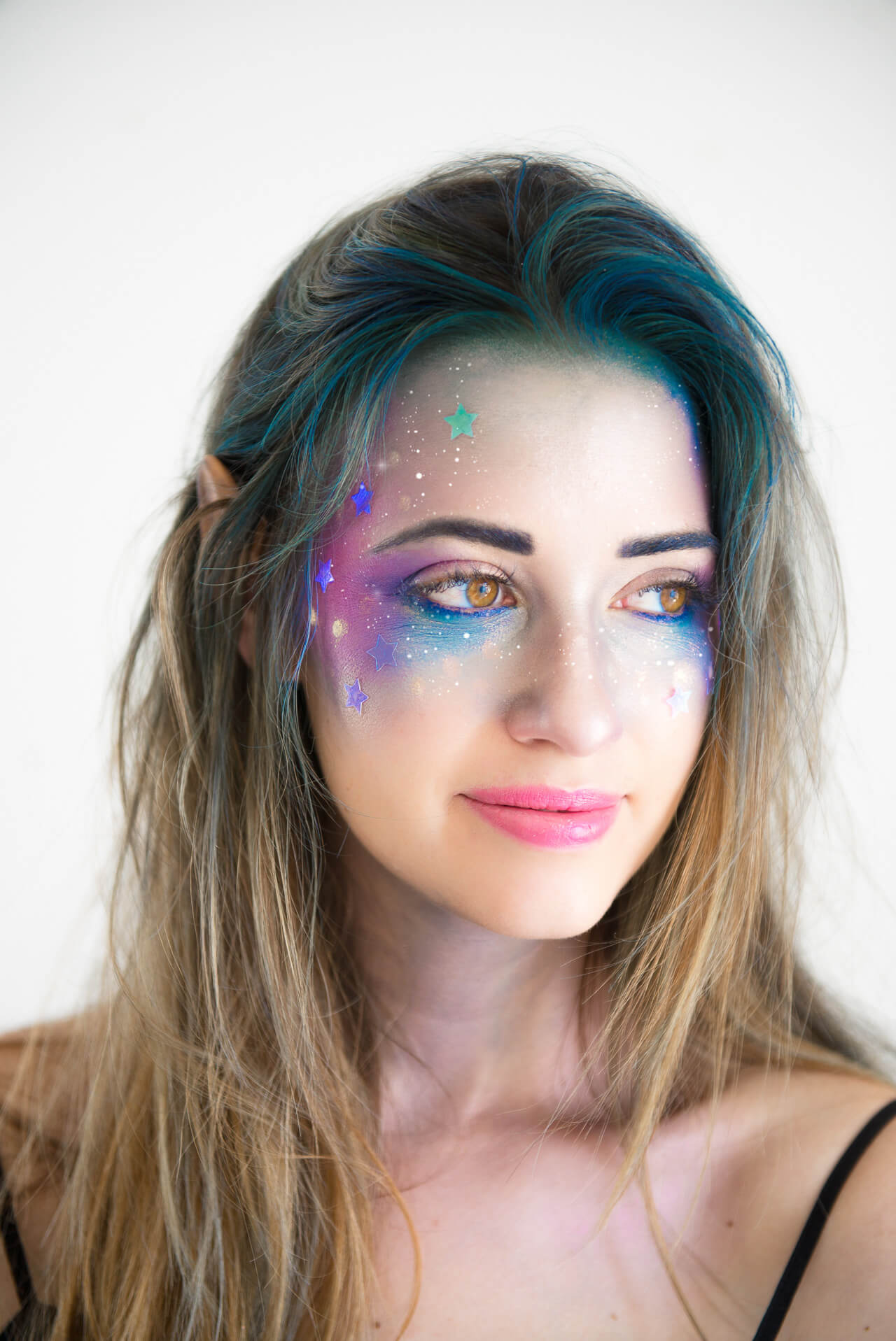 Galaxy Girl Makeup Tutorial- perfect for halloween