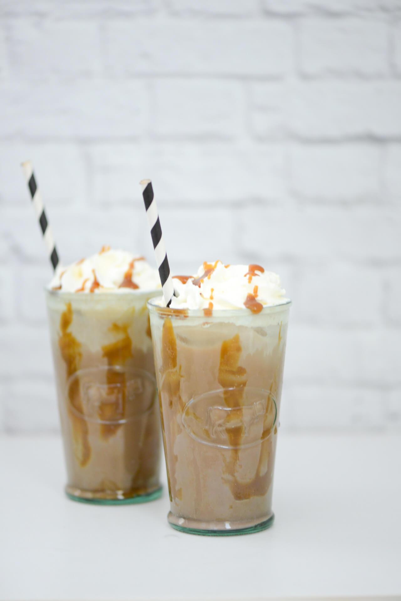 homemade iced caramel coffee