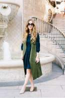 navy and olive fall outfit