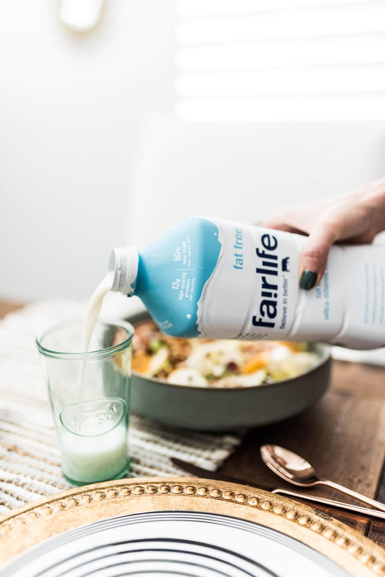 fairlife milk with dinner
