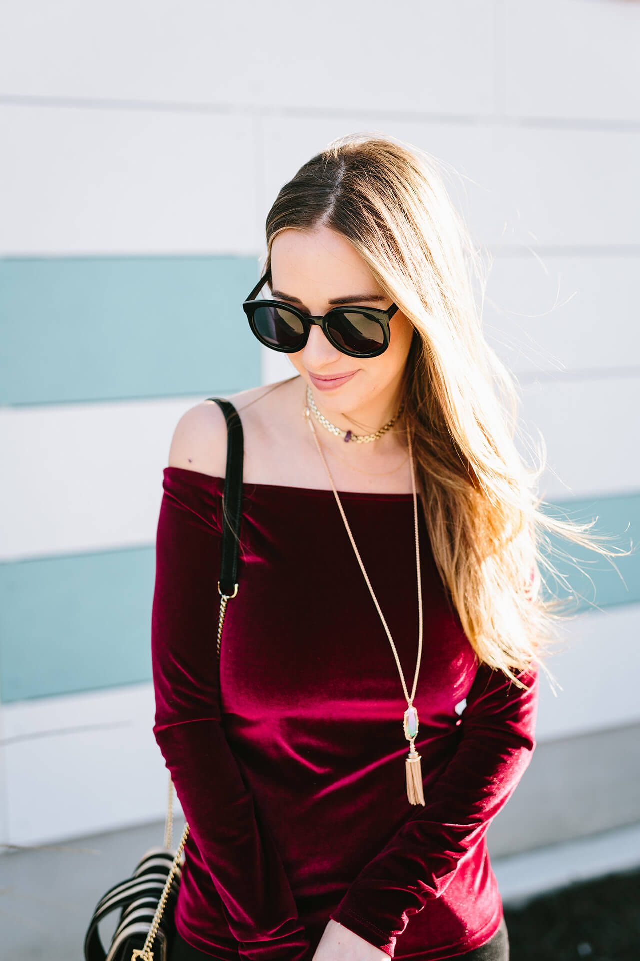 a velvet holiday outfit