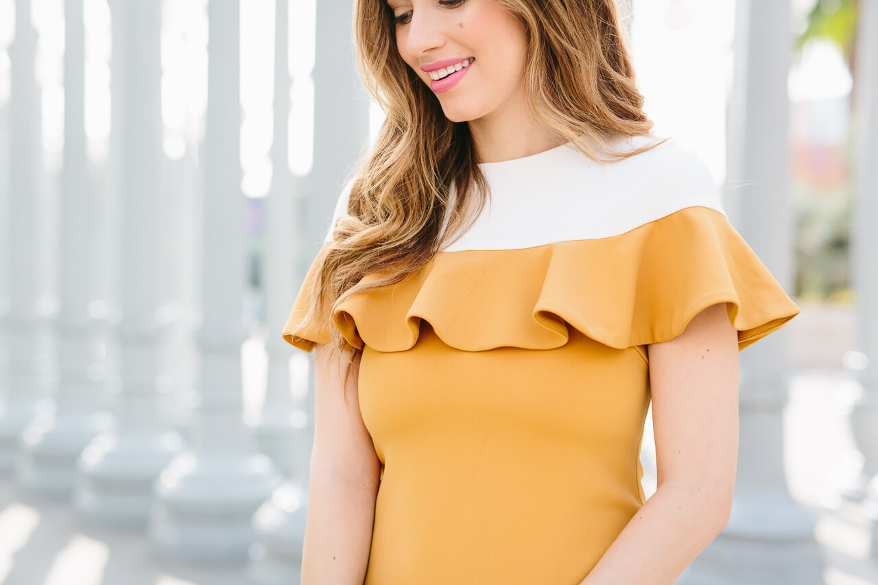 love this mustard camilyn beth dress
