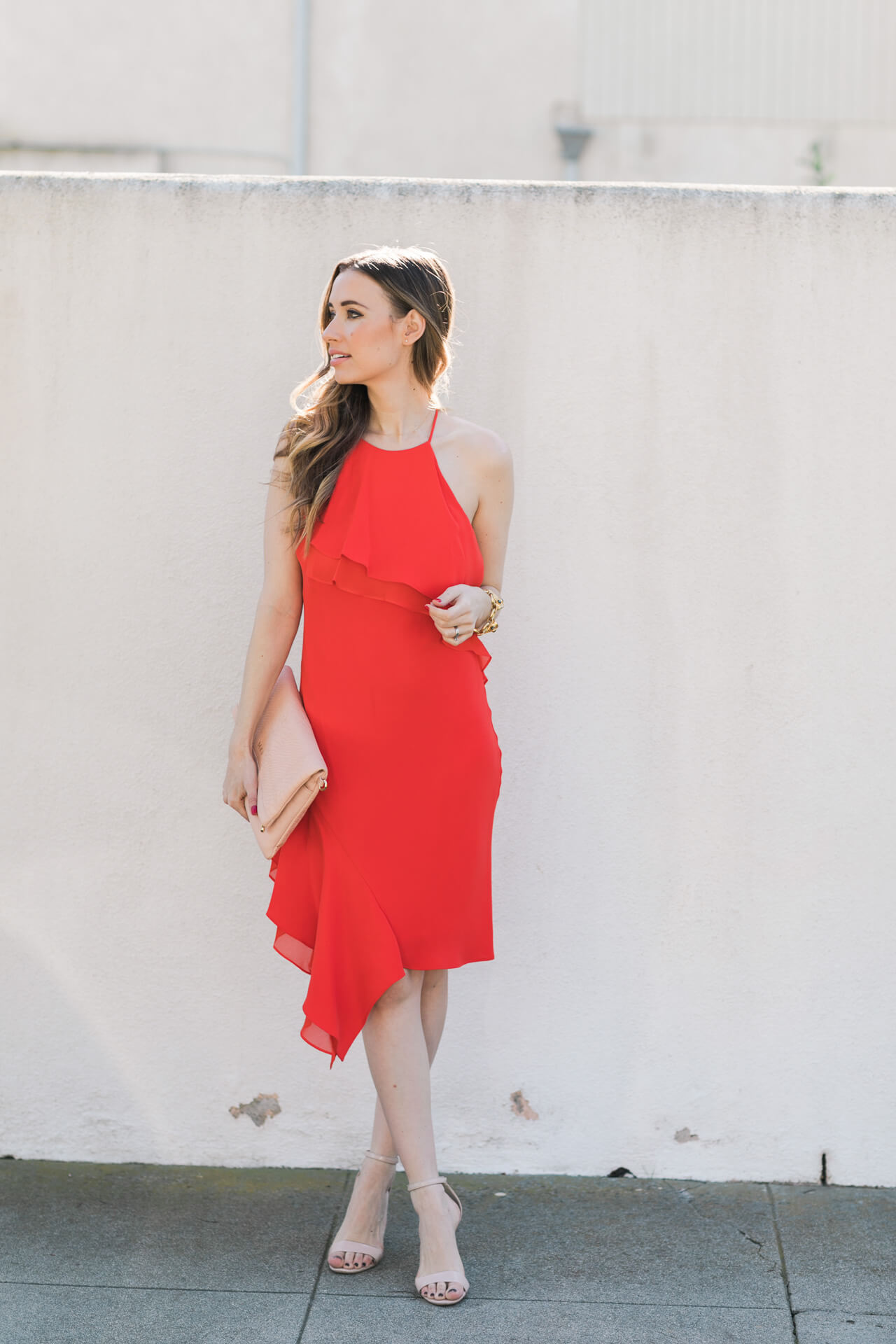 feminine red dress - perfect for valentine's day