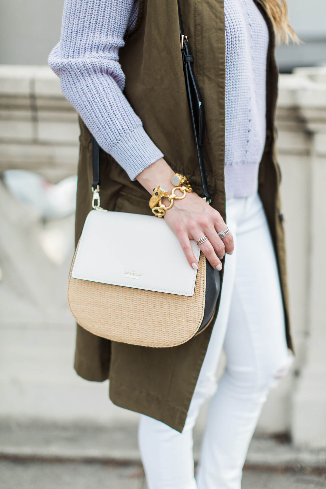 the cutest bag for spring - kate spade cameron street straw byrdie