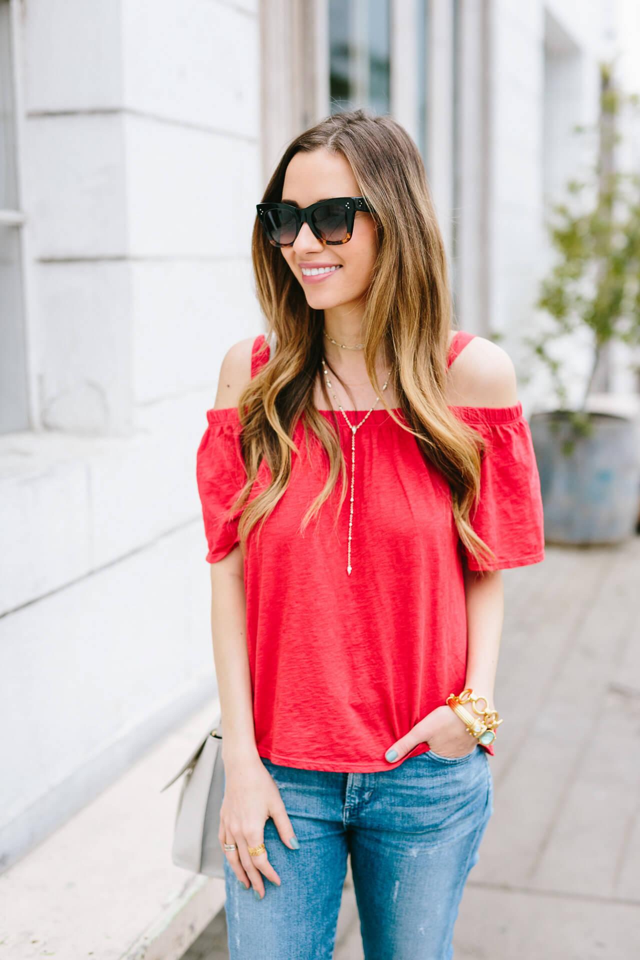 89b169138f25 Red T Shirt Jeans | Huston Fislar Photography