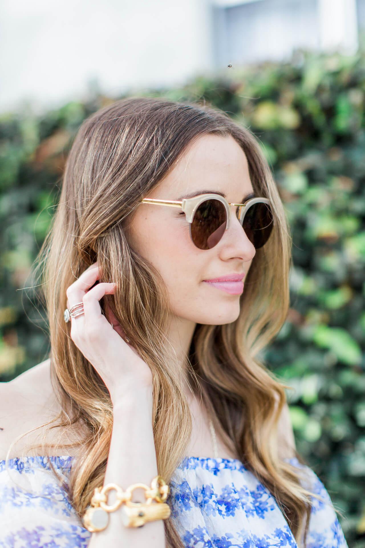 cute nude sole society sunglasses