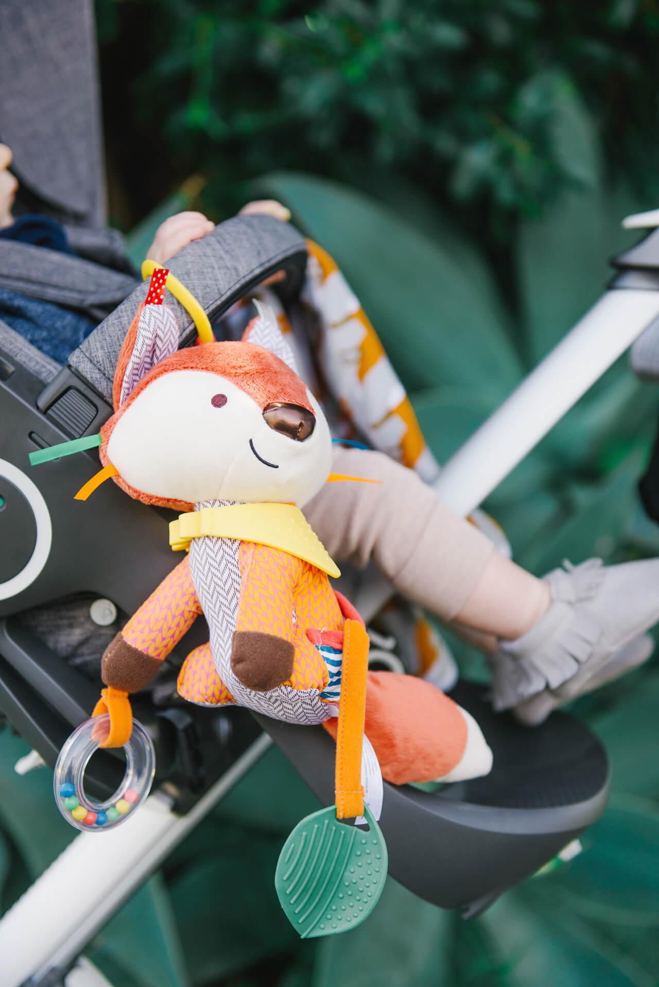 cute stroller fox toy