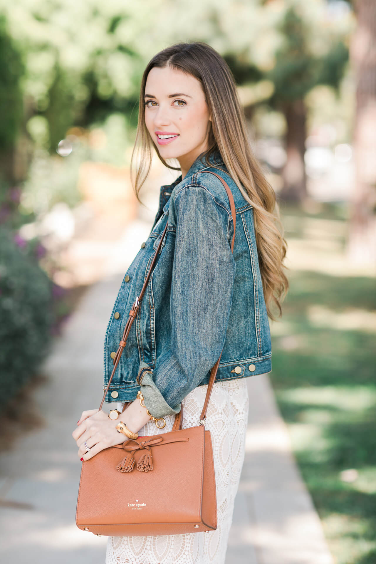 styling a denim jacket for spring
