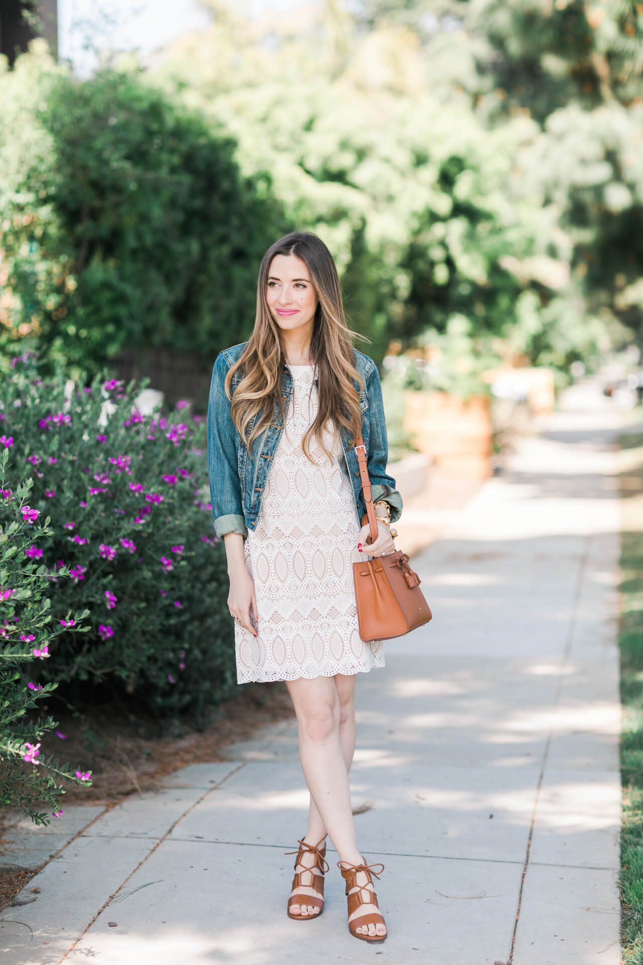 how to dress down a lace dress for spring