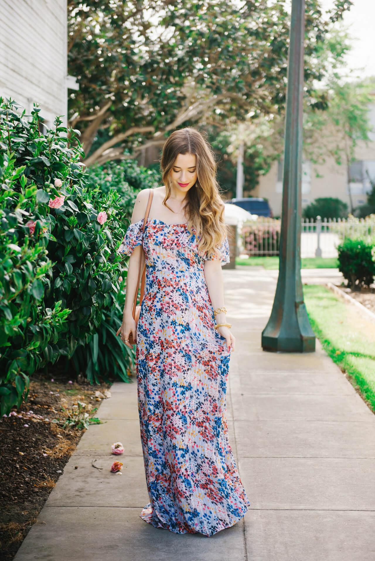 flowy spring maxi dress