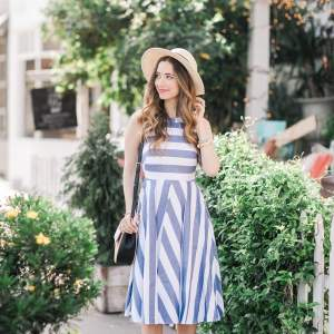 striped fit and flare for summer