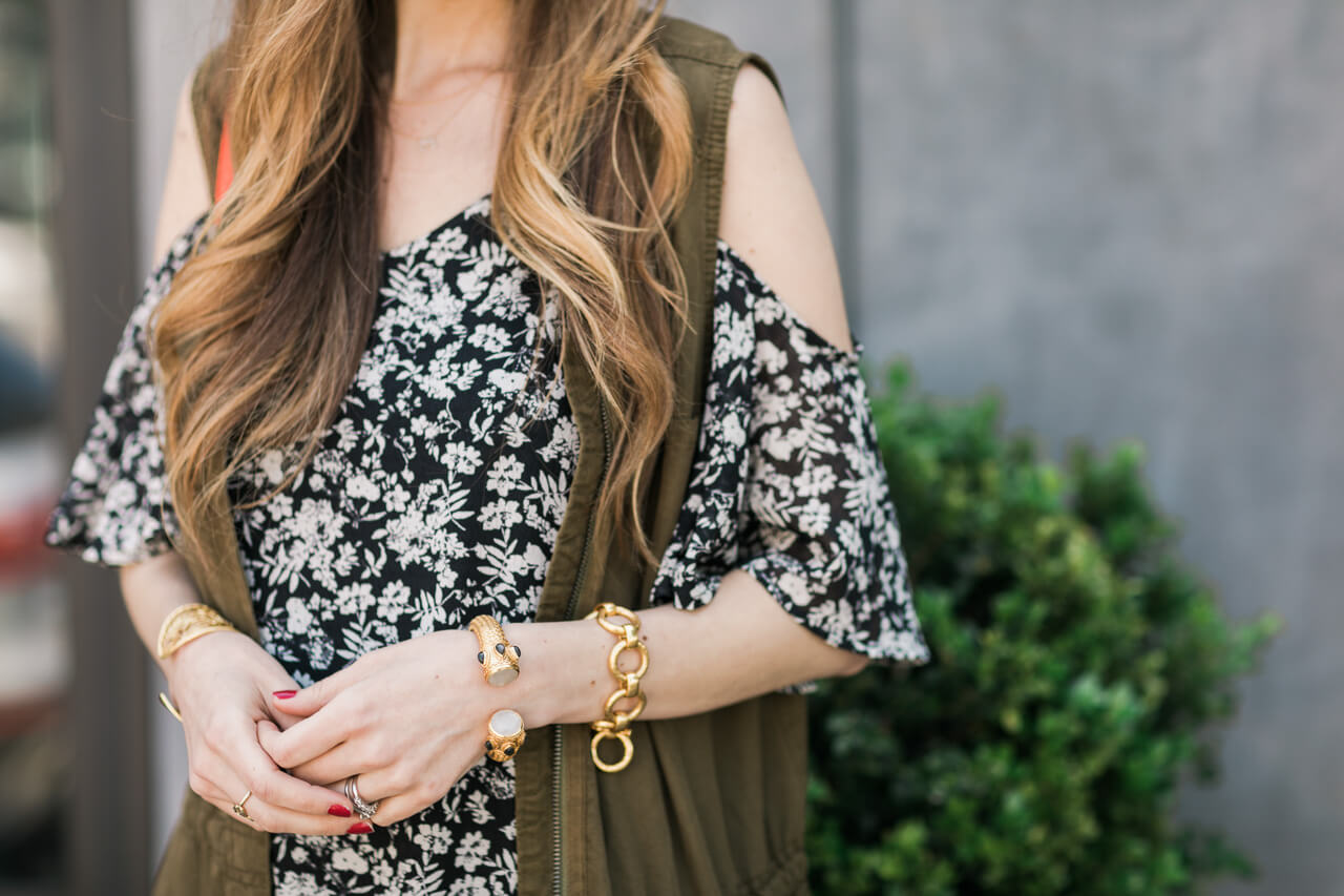 styling a cold shoulder dress