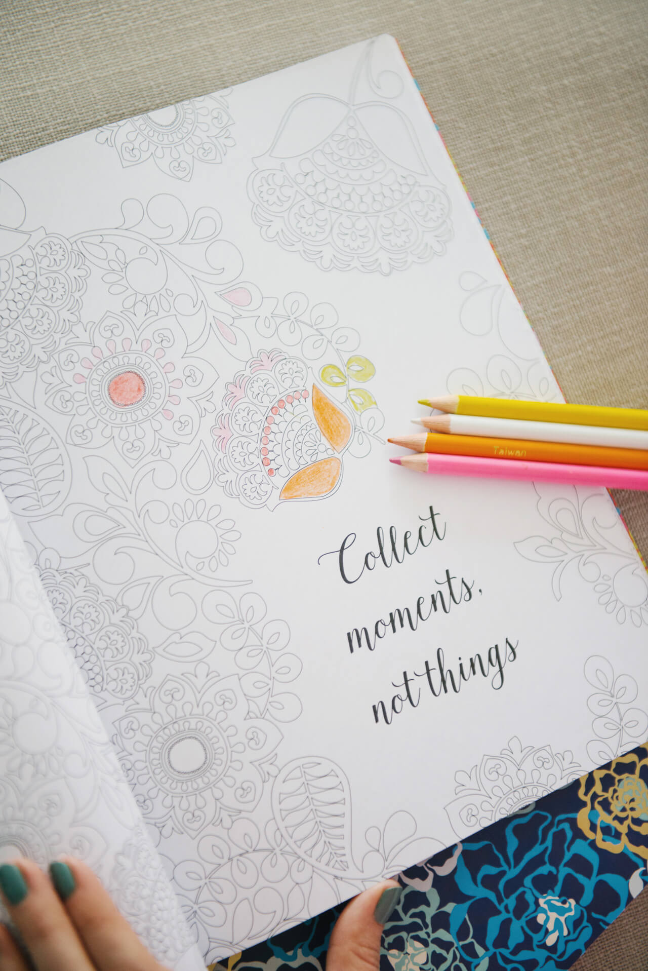 collect moments not things coloring book from vera bradley