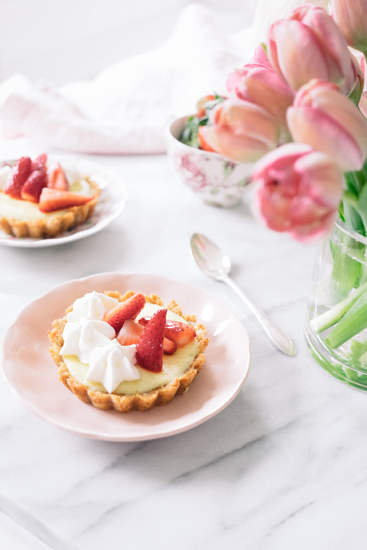 Mini Key Lime Tarts with Macerated Strawberries