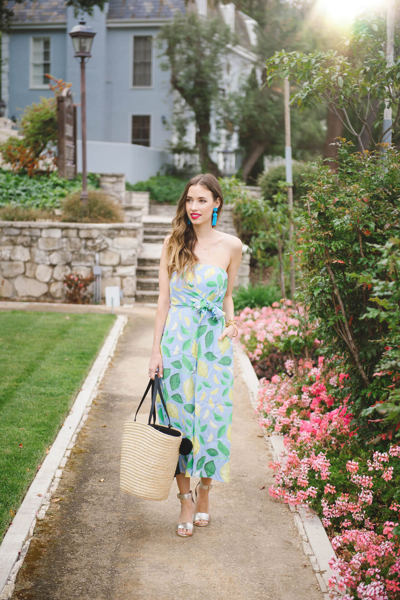 the prettiest lemon print jumpsuit for spring and summer - M Loves M @marmar