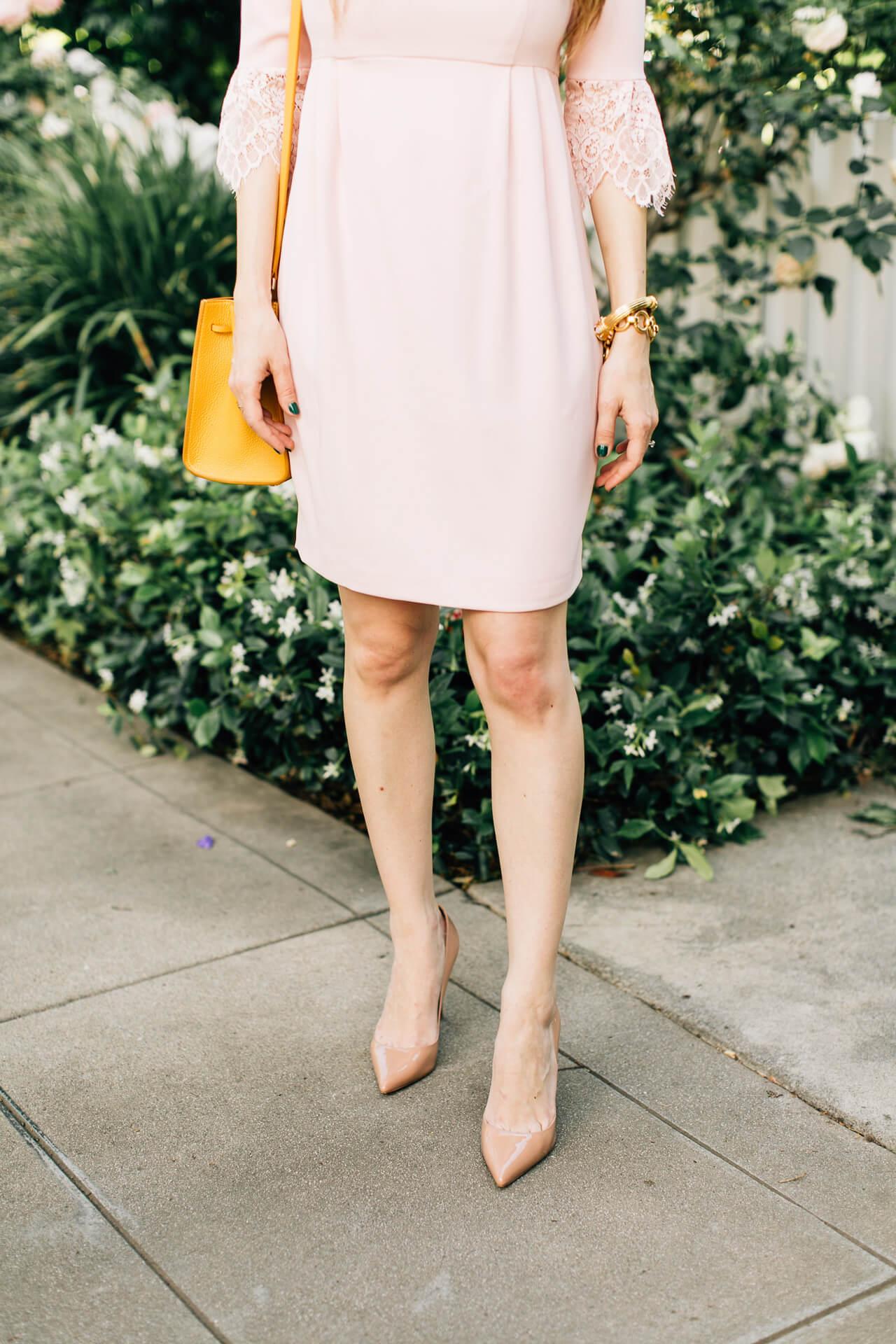 nude heels are always a good choice!