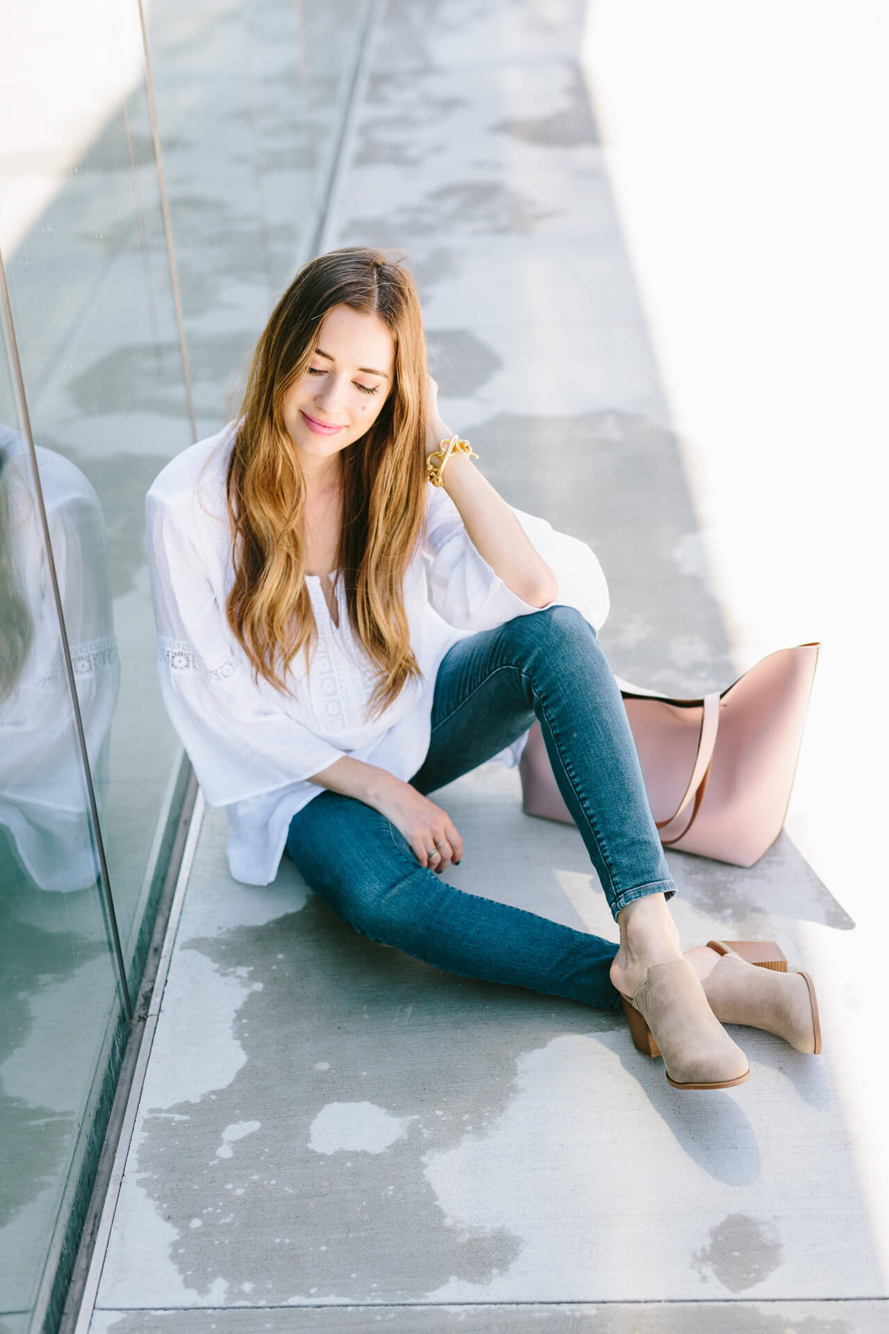 styling one pair of jeans two ways for spring - M Loves M @marmar