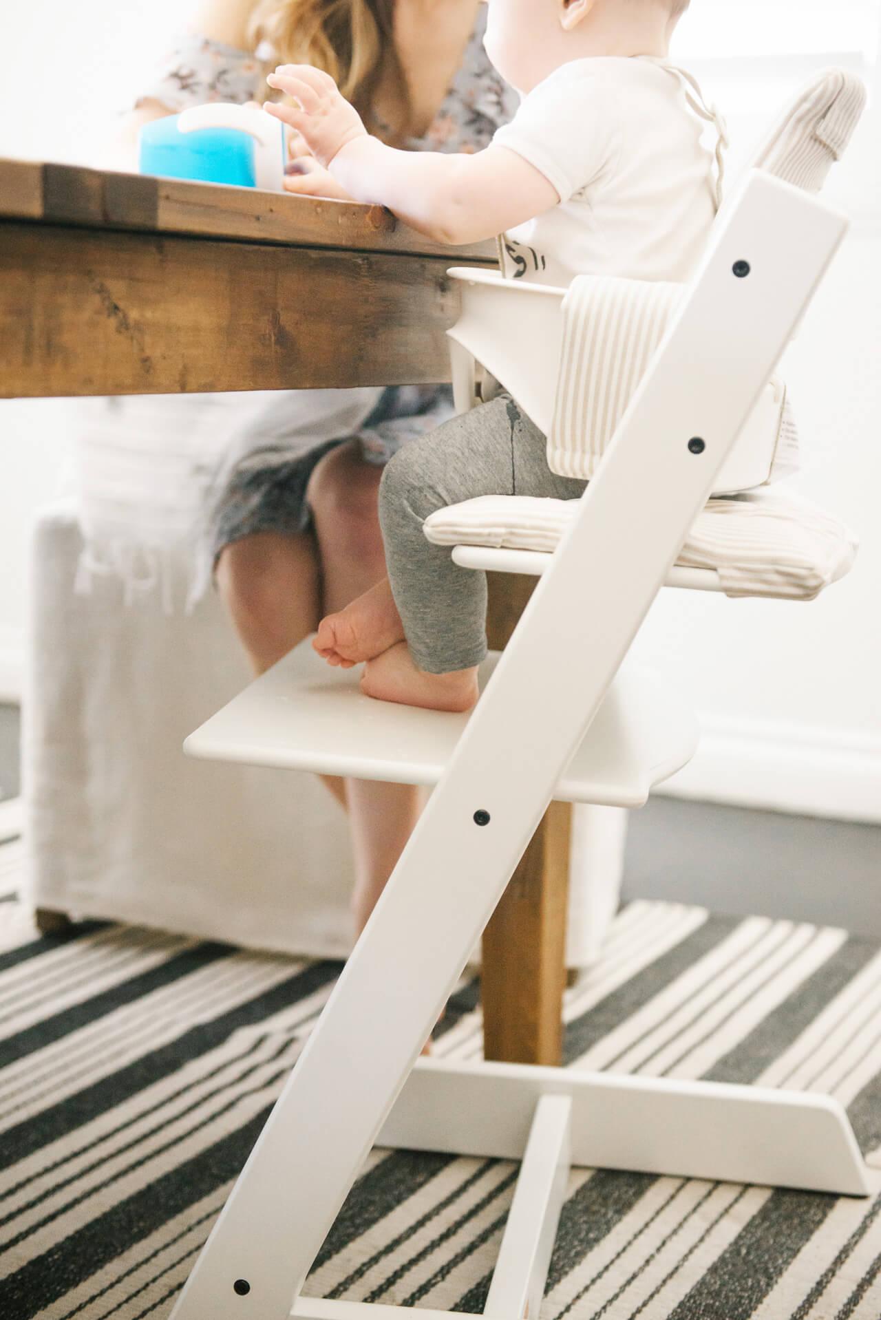 Love this white high chair