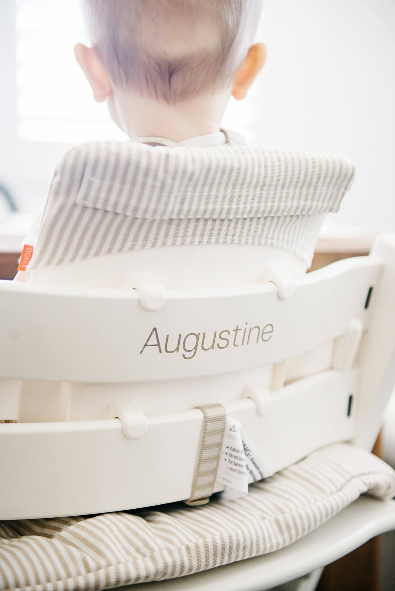 Love Augustine's customized high chair -M Loves M @marmar