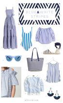 blue and white stripes - M Loves M