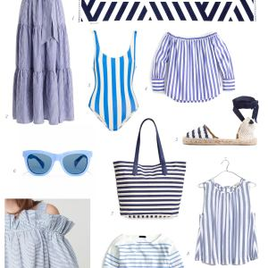 blue and white stripes - M Loves M