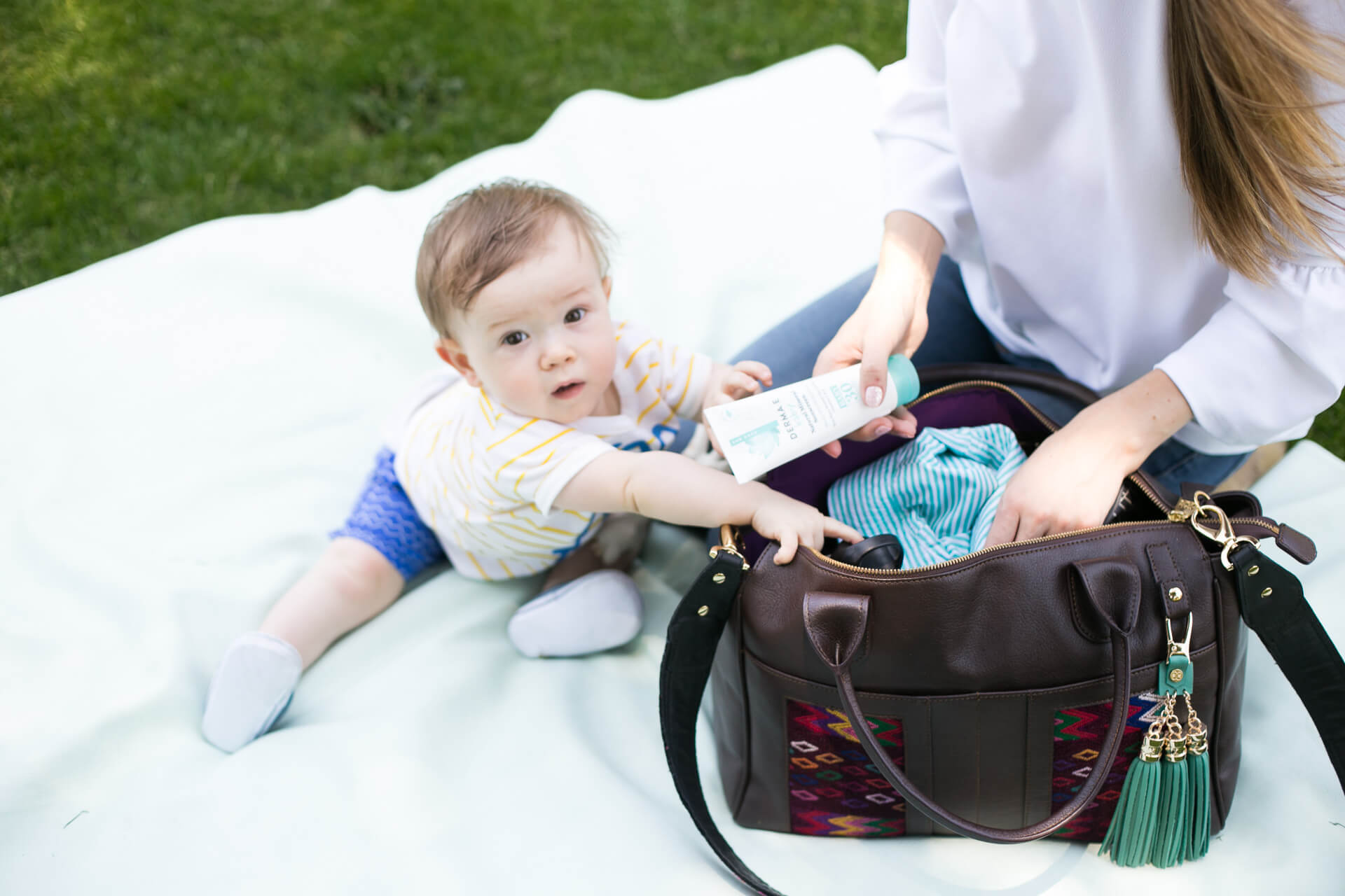 how cute is he- featuring my summer diaper bag