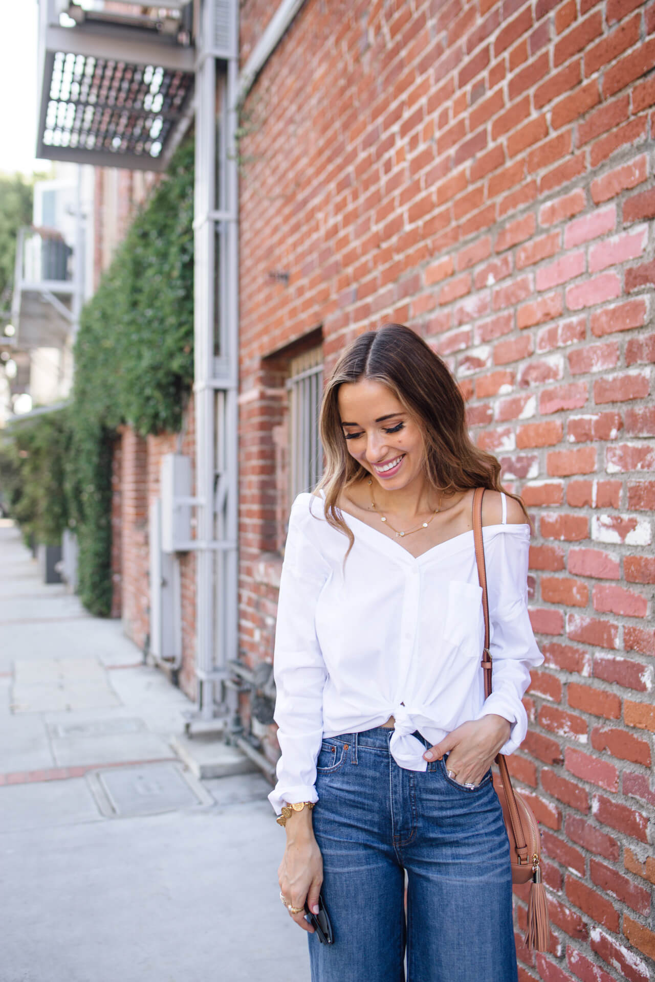 How to style a cute front tie shirt for fall | M Loves M - @marmar
