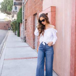 How to style wide leg jeans for summer and fall | M Loves M - @marmar