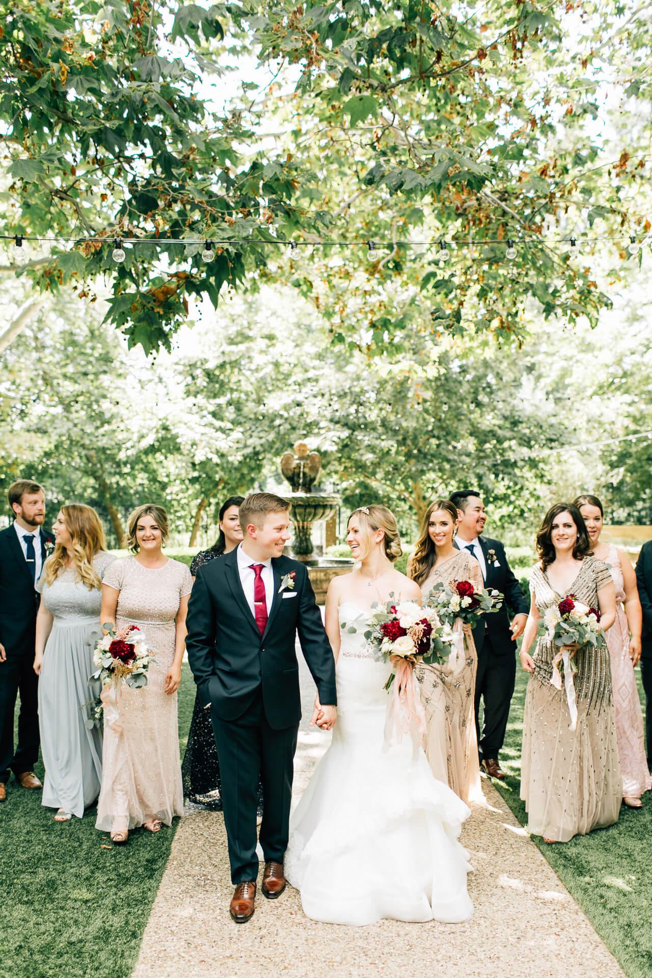 bridal party photo inspiration - summer los angeles wedding