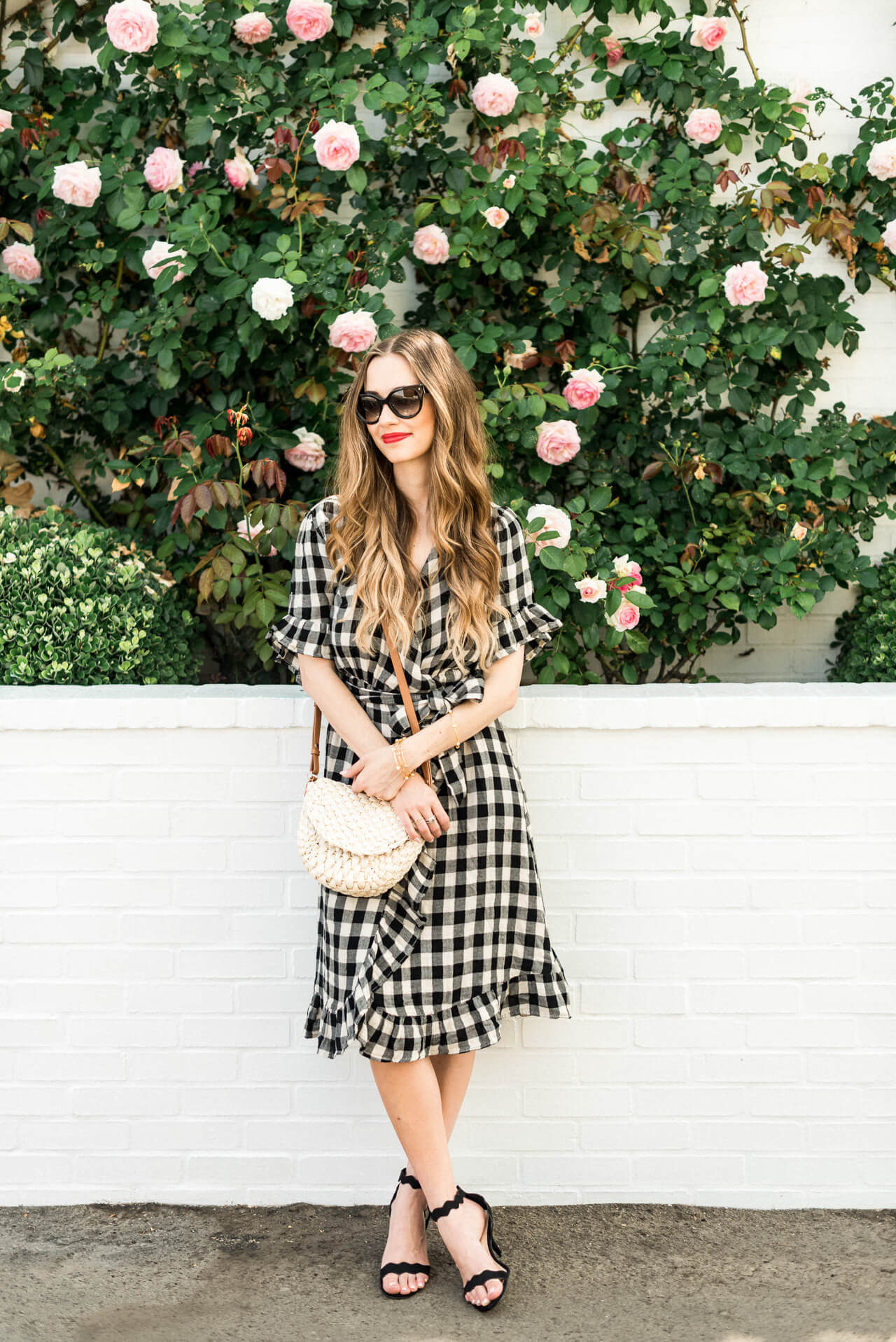 wearing this wrap dress from summer to fall - M Loves M @marmar