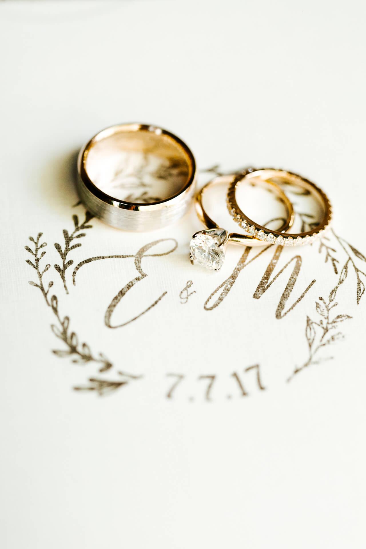 gorgeous ring shot for wedding