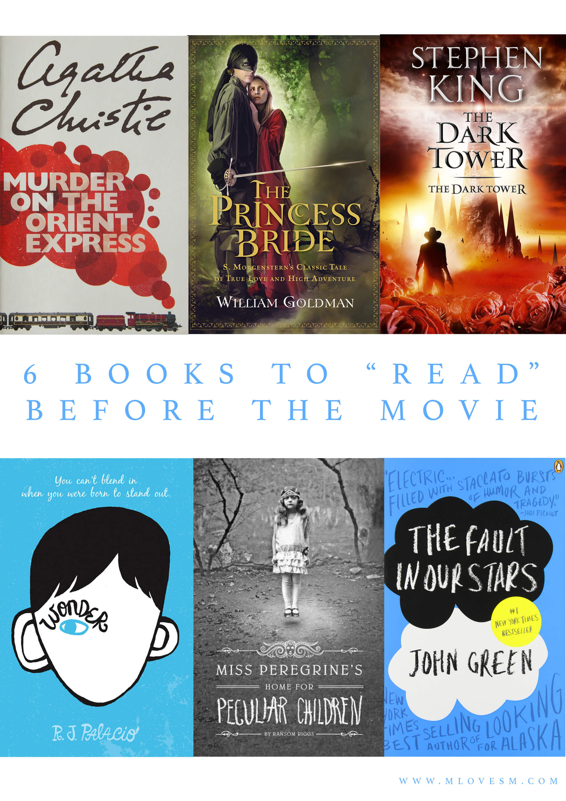 """Six Books to """"Read"""" Before Watching the Movie - M Loves M @marmar"""