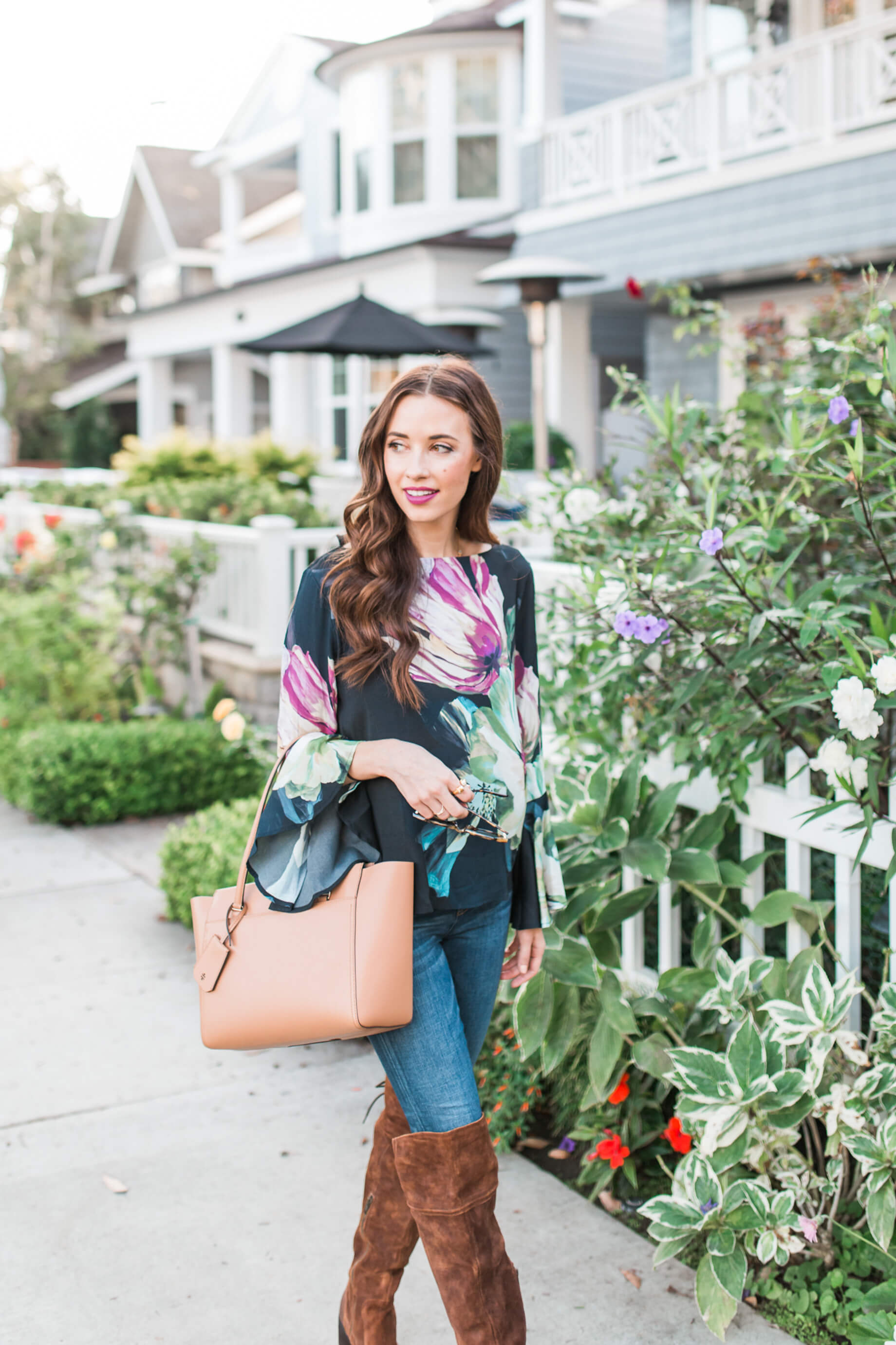 This floral top and handbag for the fall | M Loves M -@marmar