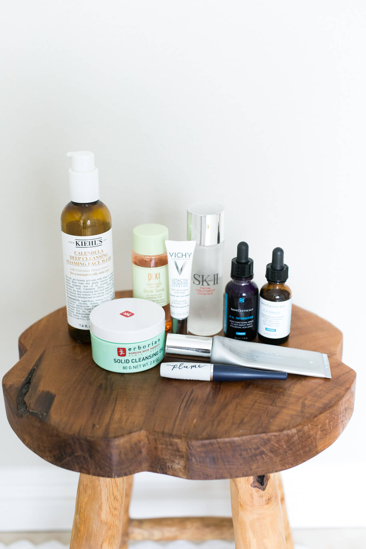 the products I use daily morning and night
